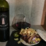 February 26, 2017 – Pelee Island Lighthouse 2015 Cabernet Franc with BBQ Pulled Pork Cheeseburger.