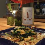 March 5, 2017 – Pelee Island Winery 2014 Lighthouse Riesling with Duck Kale Stir Fry.