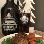 Walkerville's Scotch Ale with Brown Ale-Braised Chicken.
