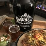 Sandwich Brewing Co. Big Investment Double IPA with Spicy Pop Pulled Pork.
