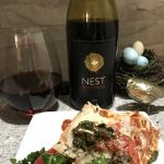 Pelee  Island Winery 2016 Nest Pinot Noir with Sweet Potato Spinach Lasagna.