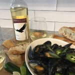 Cooper's Hawk Vineyards 2015 Vidal with PC Thai Green Curry Sauce PEI Mussels.