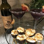 North 42 Degrees Winery 2016 Cabernet Franc with Dulce de Leche Fluff Brownies.
