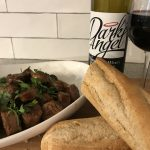 Wagner's Dark Angel with Red Wine Chorizo Bites with Crusty Bread.